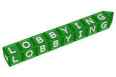 Blocks with word lobbying. 3D rendering. Stock Photography