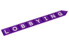 Blocks with word lobbying. 3D rendering. Stock Photos