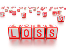 Blocks with the word loss written on it. Stock Images