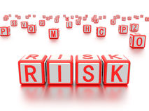 Blocks with the word risk written on it. Stock Photo
