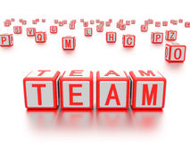 Blocks with the word team written on it. Stock Photography