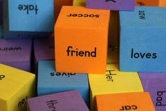 Blocks with words Royalty Free Stock Photo