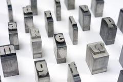 Blockschrift Stockbild
