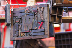 Blockskriftt trä Royaltyfri Fotografi
