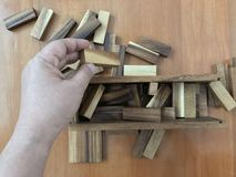 Blockspiel Stockfoto