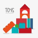 Blockspielzeug- und -spieldesign Stockfoto