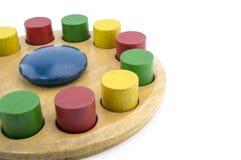 Blockspielzeugkreis lokalisiert auf weißem Hintergrund Lizenzfreie Stockfotografie