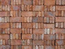 Blockstapel des roten Backsteins für Bau Lizenzfreies Stockfoto