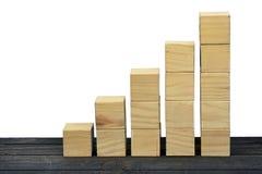 Blocktreppe auf Tabelle Lizenzfreie Stockfotos