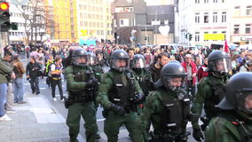 Blockupy 2015 - Francfort, Alemania almacen de metraje de vídeo