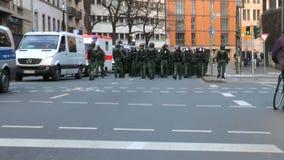 Blockupy 2015 - Francfort, Alemania almacen de video