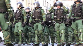 Blockupy 2015 - Frankfurt, Germany stock video footage
