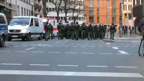 Blockupy 2015 - Frankfurt, Germany stock video
