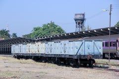 Blockwagen-hoher mit Seiten versehener Lastwagen Stockbild