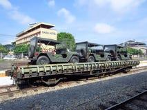 Blockwagen-schwerer flacher Lastwagen Lizenzfreies Stockfoto
