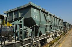 Blockwagen-Trichter-Lastwagen (BHW) unter blauem Himmel Lizenzfreie Stockbilder