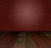 Blockwand des roten Backsteins Lizenzfreie Stockfotografie