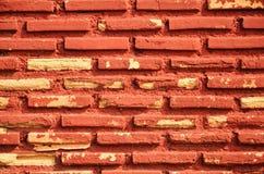 Blockwand des roten Backsteins Stockfoto