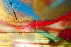 Blockwand nach dem Zufall gemalt Lizenzfreies Stockbild