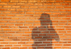 Blockwand und -schatten Lizenzfreie Stockfotografie