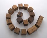 blocky спираль стоковые фото