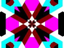blocky kaleidoscope Royaltyfri Bild