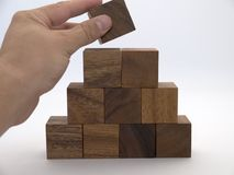 Blocky pyramid stock photography