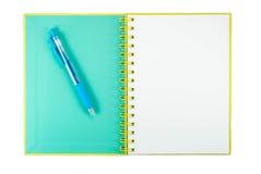 Blocnote Blanco pagina royalty-vrije stock afbeelding