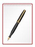 Blocnote en pen Stock Afbeeldingen