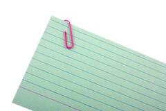 Blocnote met een paperclip stock afbeelding