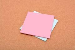 Blocnote met exemplaarruimte op document textuur Stock Foto