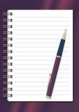 Blocnote met pen Stock Foto
