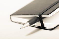 Blocnote met pen Stock Afbeelding