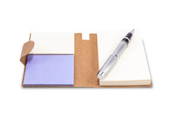Blocnote met pen royalty-vrije stock afbeeldingen