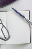 Blocnote voor het schrijven van tekst Stock Foto