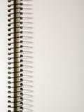 Blocnotepagina met een spiraal Plaats voor de tekst Stock Afbeelding