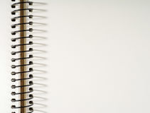 Blocnotepagina met een spiraal Plaats voor de tekst Royalty-vrije Stock Foto