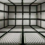 bloco 3D de vidro abstrato Imagem de Stock Royalty Free