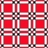 Bloco branco preto vermelho Fotos de Stock