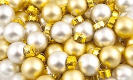 Bloco cheio de esferas opacas do Natal Foto de Stock