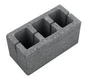 Bloco cinzento concreto para construir isolada imagem de stock