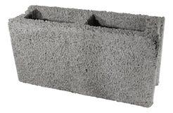 Bloco cinzento concreto para construir isolada imagens de stock