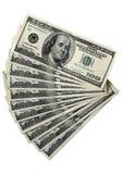 Bloco contas de 100 de dólar Foto de Stock Royalty Free