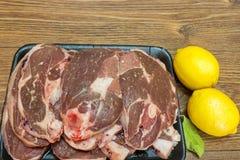 Bloco da carne de carneiro Foto de Stock