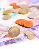 Bloco da moeda britânica Fotografia de Stock Royalty Free