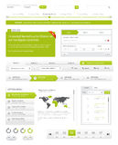Bloco da navegação do Web site Fotos de Stock