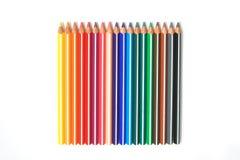 Bloco da variedade dos lápis foto de stock royalty free