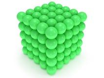 Bloco das esferas. Conceito de montagem. No branco. Imagem de Stock