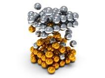Bloco das esferas Conceito de montagem No branco Imagem de Stock Royalty Free