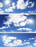 Bloco das nuvens do panorama Fotos de Stock